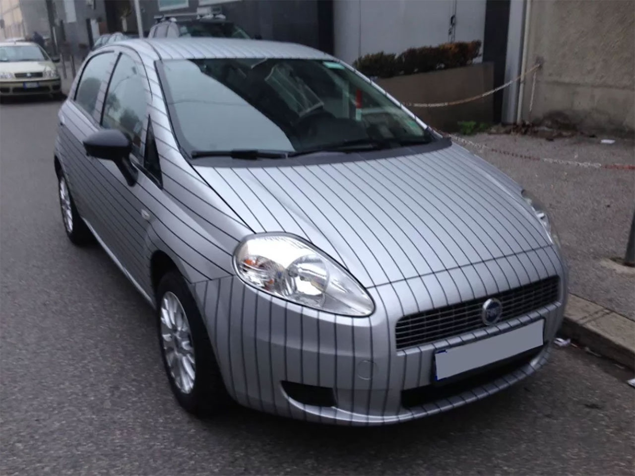 Car Wrapping Fiat Punto – Gessato Grigio