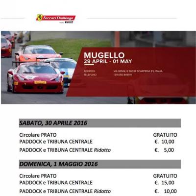 Ferrari Challenge 2016 – sabato 30 aprile e domenica 1 maggio